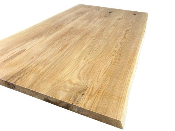 Tischplatte Wildeiche mit Baumkante