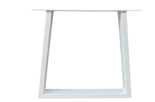 Tischgestell Weiß Stahl Trapez