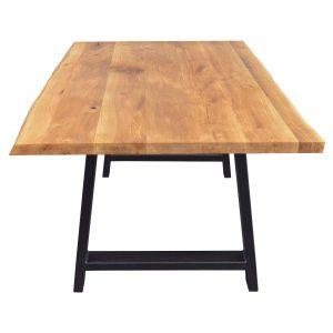 Tisch mit Baumkante mit A-Gestell