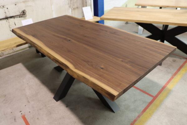 Nussbaum Esstisch Konferenztisch 200x100cm Massivholztisch Loft Industrial Massivholztisch