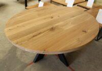 Runder Tisch aus Wildeiche 140cm
