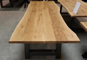 Tisch mit Baumkante A-Modell 300x100cm