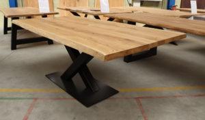 Tisch mit Baumkante Esstisch Baumtisch Wildeiche 200x100cm