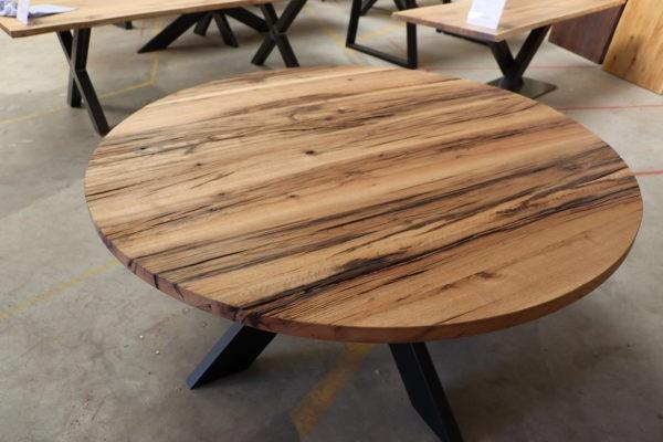 Runder Esstisch aus Alteiche 160cm