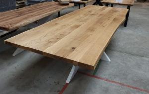 Tisch mit Baumkante inkl. Ansteckplatten 280x100cm