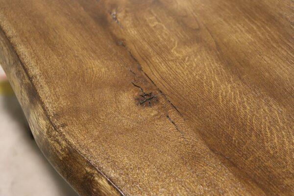 Tisch mit Baumkante aus Wildeiche 280x100cm