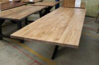 Tisch aus Wildeiche weiß geölt 280x100cm