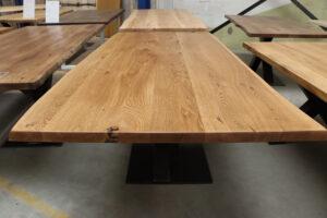 Eiche Rustikal Tisch 4cm - 220x100cm Bigfoot Gestell