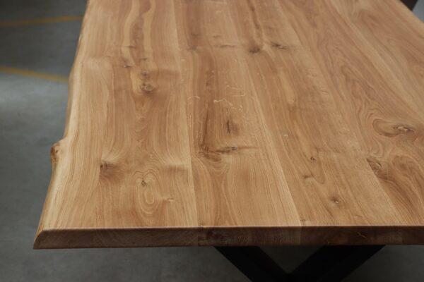 Eiche Rustikal Tisch 4cm - 220x100cm X-Gestell