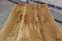 Eiche Rustikal Tisch 4cm - 240x100cm V-Gestell