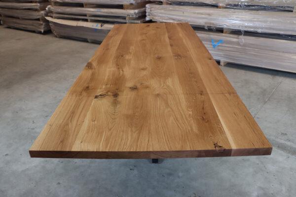 Esstisch aus Eiche Rustikal mit Ansteckplatten 220x100cm